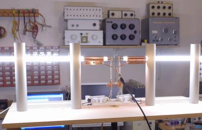 Setup for plasma antenna measurements